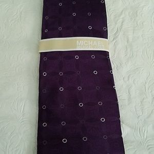 Michael Kors Purple Silk Tie NEW